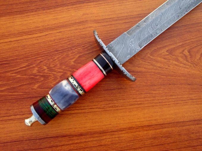 Custom-Handmade-Damascus-Steel-Hunting-Sword-With-Camel-Bone-Handle