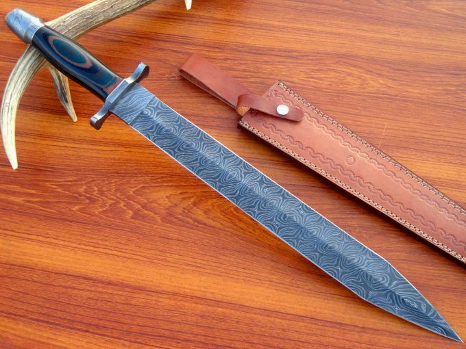Custom-Handmade-Damascus-Steel-Sword