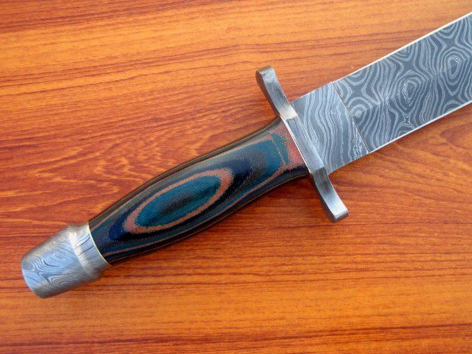 Damascus-Steel-Hunting-Sword-With-Micarta-Handle