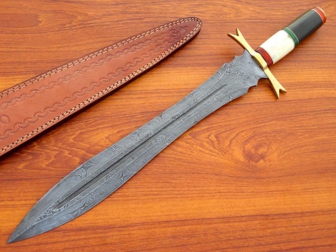 Micarta-And-Camel-Bone-Handle-Hunting-Sword