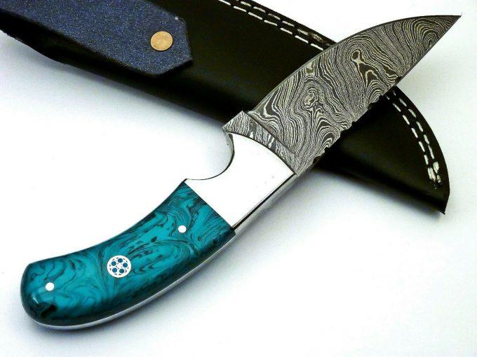 Resin-Sheet-Handle-Hunting-Skinner-Knife