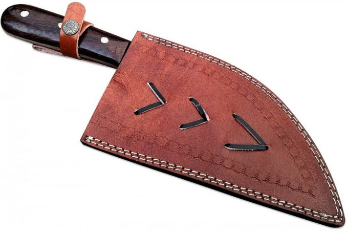 Cleaver-Knife-With-Leather-Sheath