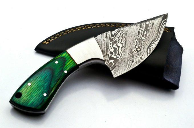 Custom-Handmade-Damascus-Steel-Hunting-Skinner-Knife-With-Pakka-WWood-Handle