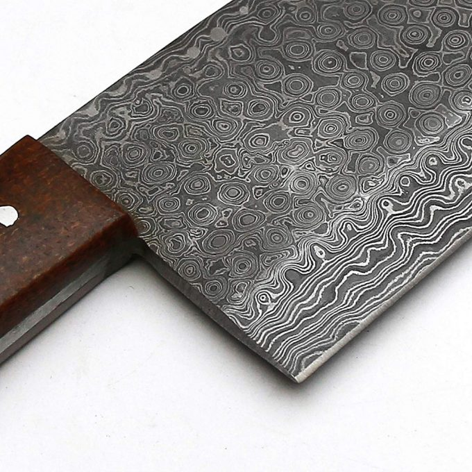 Damascus-Steel-Cleaver-Knife-With-Micarta-Handle