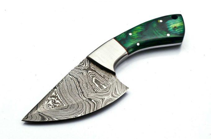 Damascus-Steel-Hunting-Skinner-Knife-Pakka-WWood-Handle
