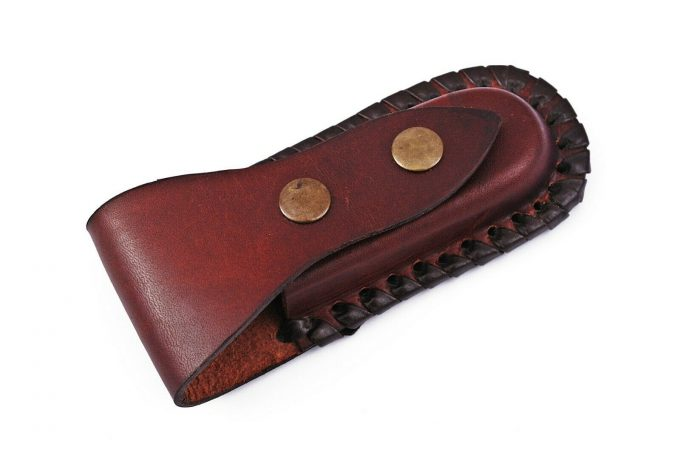 Pocket-Folding-Knife-With-Leather-Sheath