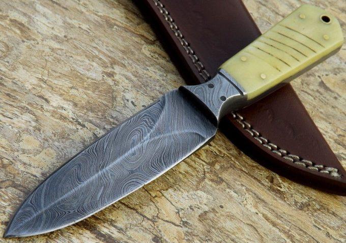 Handmade-Damascus-Steel-Hunting-Dagger-Knife