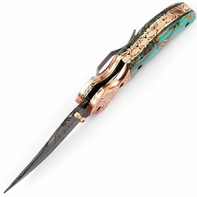 Resin-Sheet-Handle-Pocket-Folding-Knife
