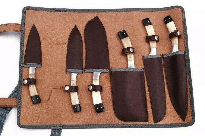Handmade-Damascus-Kitchen-Knives-Set