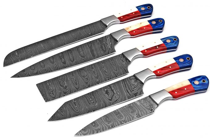 Custom-Handmade-Damascus-Steel-Chef-Kitchen-Knife-Set-With-Leather-Sheath-Kit-Roll