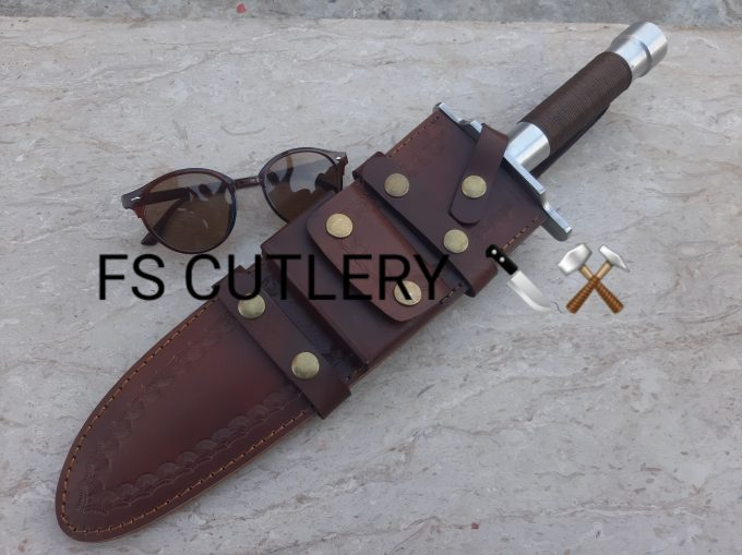 Bowie-Hunting-Knife-With-Leather-Sheath