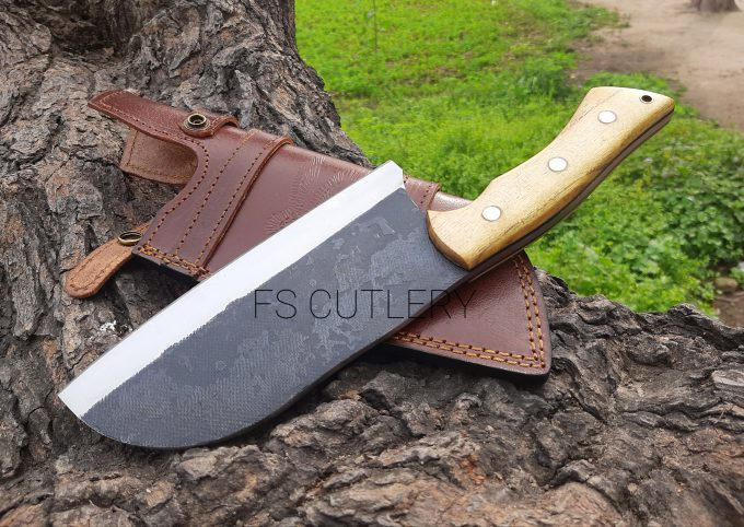 Custom-Handmade-D2-Steel-Chef-Cleaver-Knife-With-Himalaya-Wood-Handle