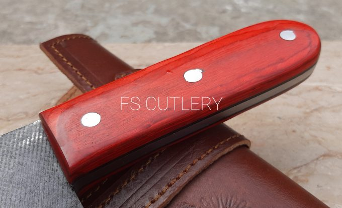 D2-Steel-Chef-Cleaver-Knife-With-Red-Pakka-Wood-Handle