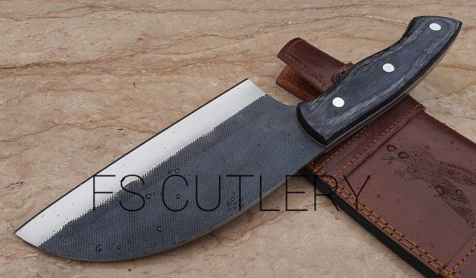 Beautiful-Chef-Cleaver-Knife-With-Black-Pakka-Wood-Handle