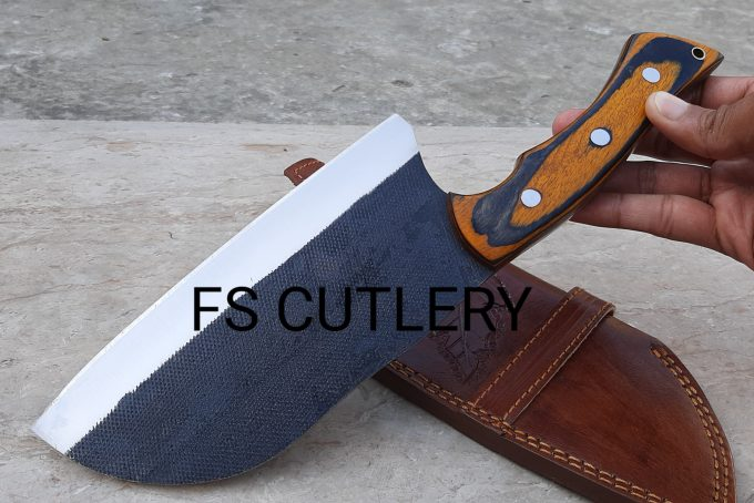 Chef-Cleaver-Knife-With-Pakka-Wood-Handle