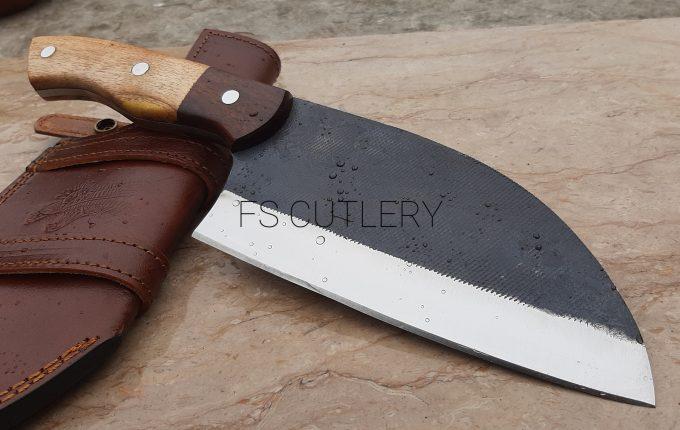 Custom-Handmade-D2-Steel-Chef-Cleaver-Knife-With-Himalaya-Wood-And-Rose-Wood-Handle