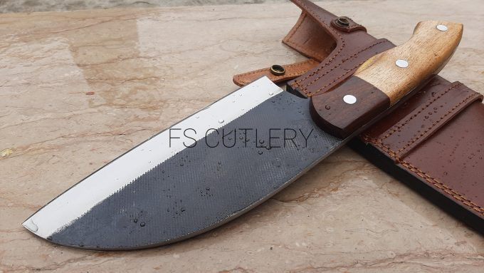 D2-Steel-Chef-Cleaver-Knife-With-Himalaya-Wood-And-Rose-Wood-Handle