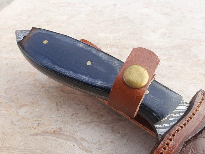 Custom-Handmade-Damascus-Steel-Hunting-Skinner-Knife-With-Black-Pakka-Wood-Handle